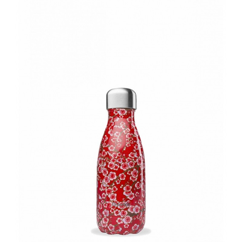 bouteille isotherme qwetch flowers rouge 260ml